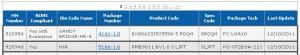 Core i5 2550K data in MDDS database
