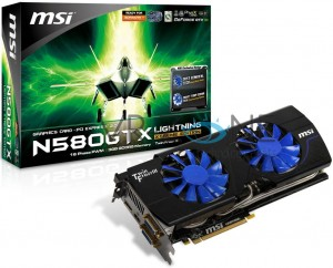 MSI s 3GB Packing GTX 580 Lightning Xtreme Edition Gets Pictured 2
