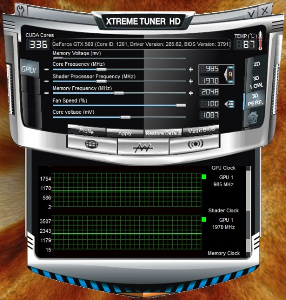 galaxy gtx 560 2gb overclock xtreme tuner hd