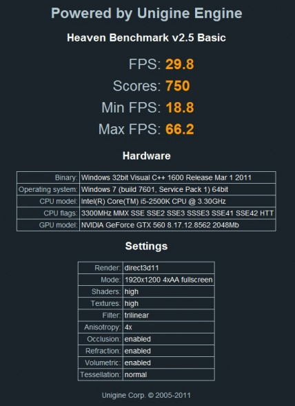 galaxy gtx 560 2gb overclock xtreme tuner hd unigine