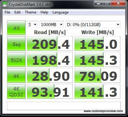 ocz agility 3 ssd crystal disk mark random fill