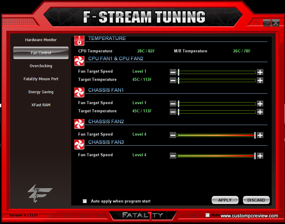 Asrock f stream tuning