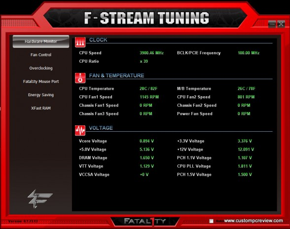 fstream hardware monitor