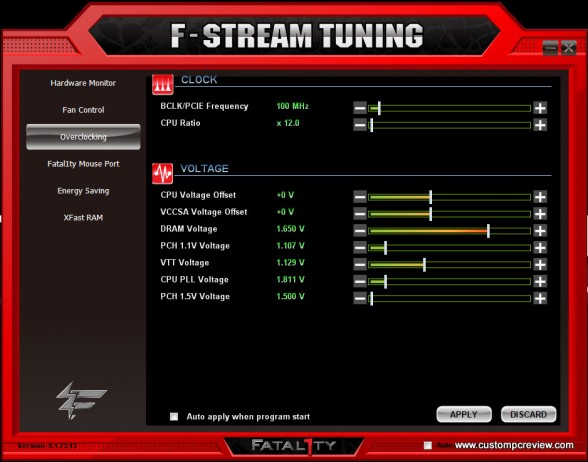fstream overclocking