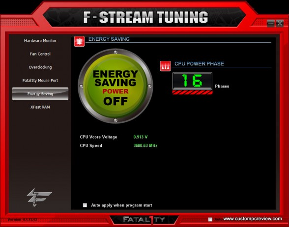 fstream power saving