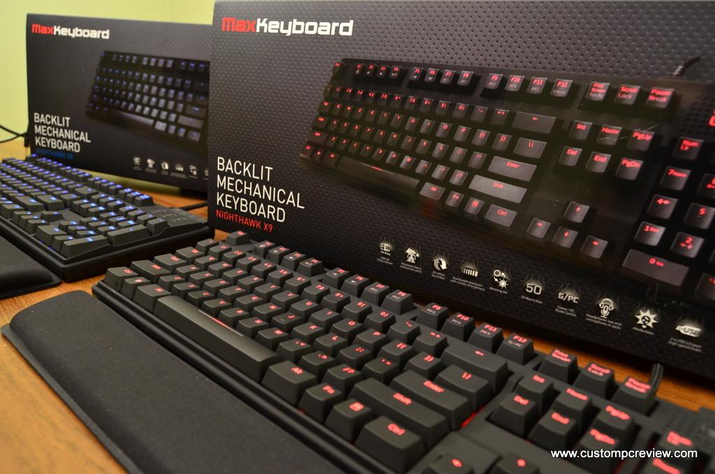 Max Keyboard X8 and X9 Backlit Mechanical Keyboard