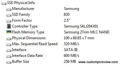 samsung 830 128gb aida 64