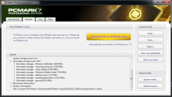 seagate momentus xt 750gb 7200rpm pc mark 7