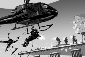police-warfare-storyboard-chopper-art