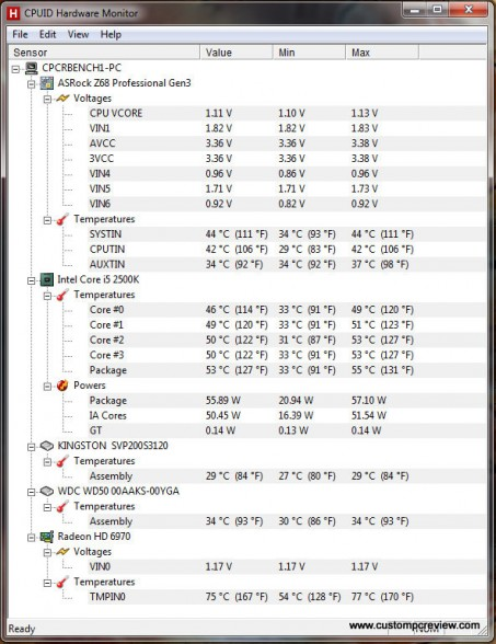 nzxt phantom 410 temps
