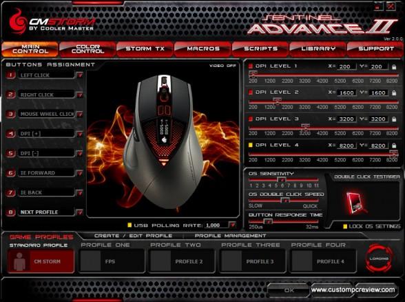 cm storm sentinel advance ii software