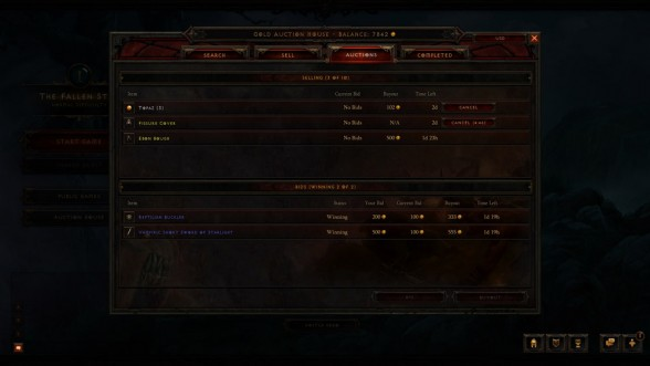 Diablo 3 active auctions gold