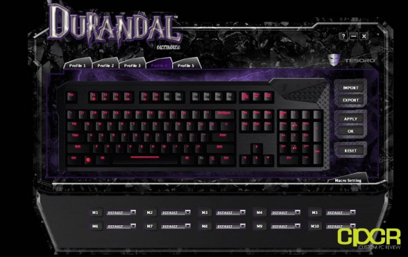 custom pc review max keyboard durandal mechanical gaming keyboard review 20