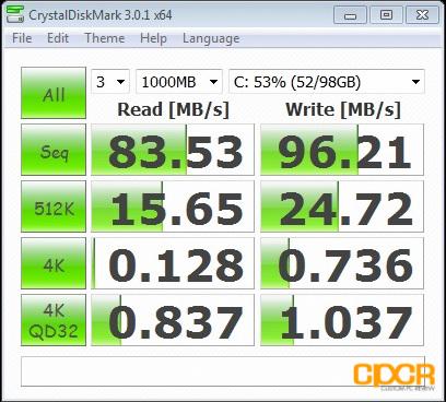 arctic mc101 crystal disk mark custom pc review