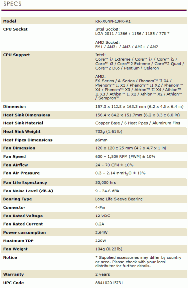 cooler master x6 elite specifications