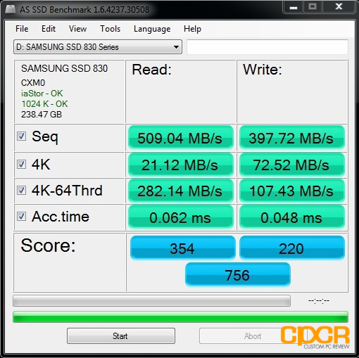 Sep '12 AS SSD Bench Test