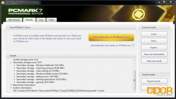pc mark 7 samsung 830 256gb custom pc review