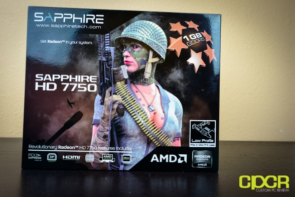 sapphire hd 7750 1gb low profile custom pc review 1