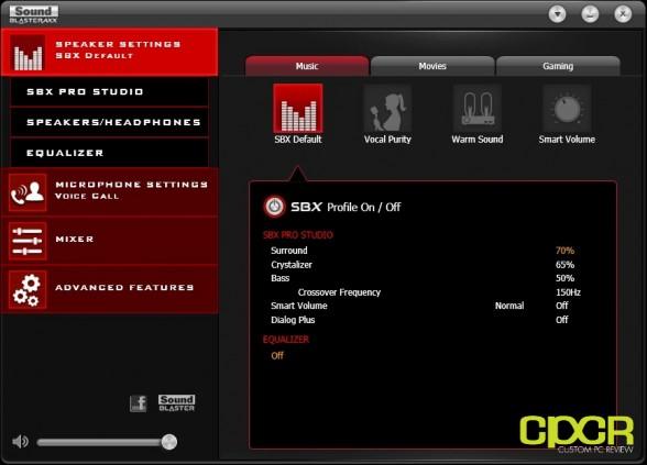 creative sound blaster axx software custom pc review 1