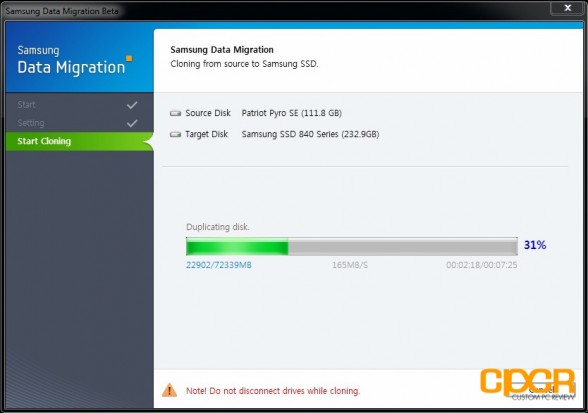 data migration 3 samsung 840 250gb ssd custom pc review