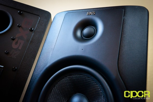 m audio bx5 d2 studio monitors custom pc review 10