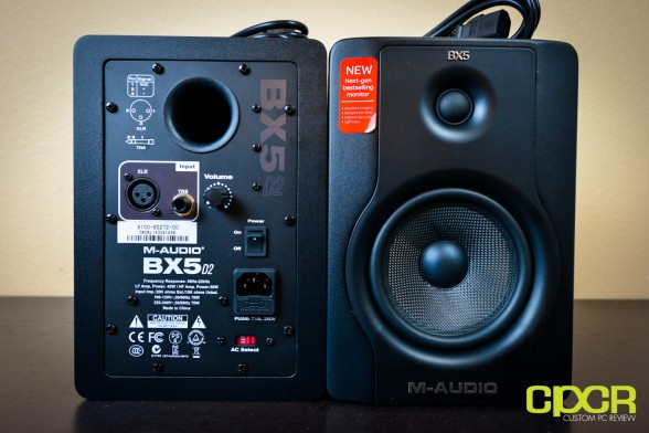 m audio bx5 d2 studio monitors custom pc review 7