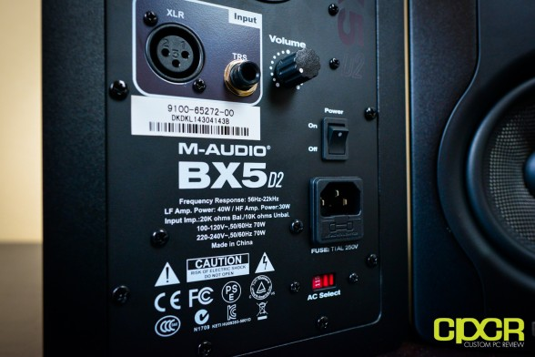 m audio bx5 d2 studio monitors custom pc review 8