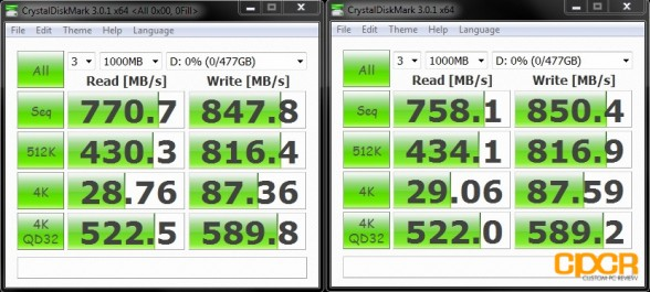 crystal disk mark ocz vertex 4 256gb raid 0 custom pc review