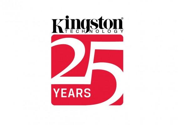 kingston technology 25 years logo