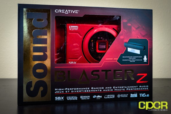 creative sound blaster z pcie sound card custom pc review 1