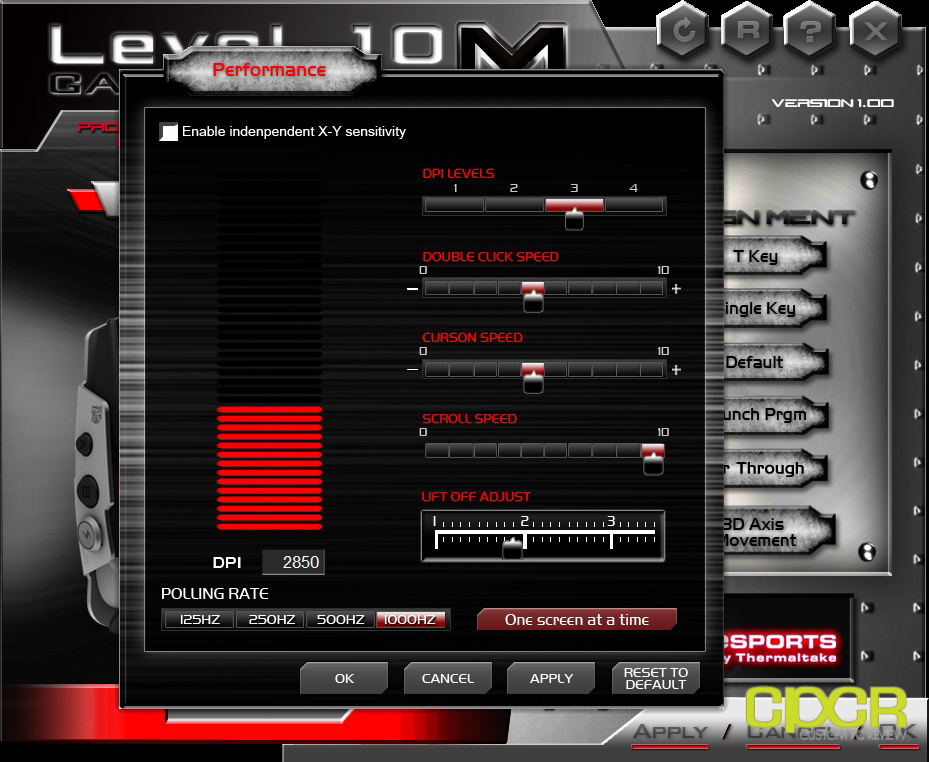 level 10m gaming mouse software