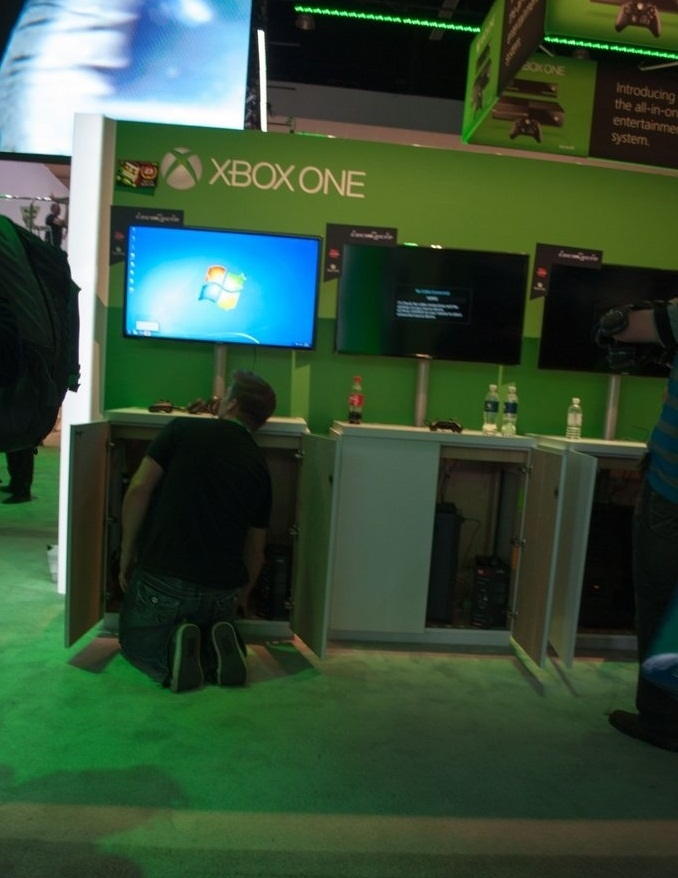 Oops xbox one demos at e3 running off windows pcs for Latest windows for pc