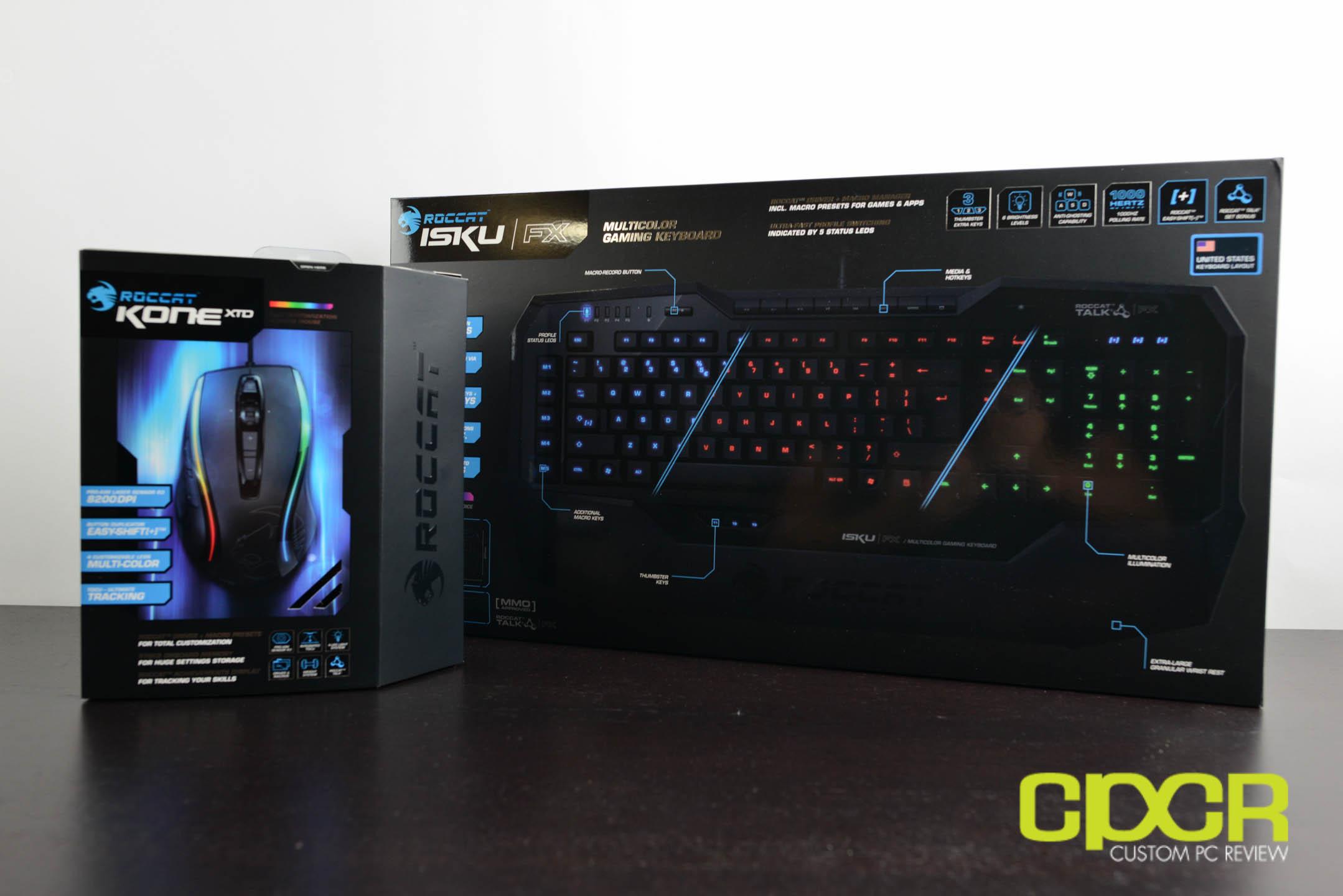 Review Roccat Kone Xtd And Roccat Isku Fx Gaming