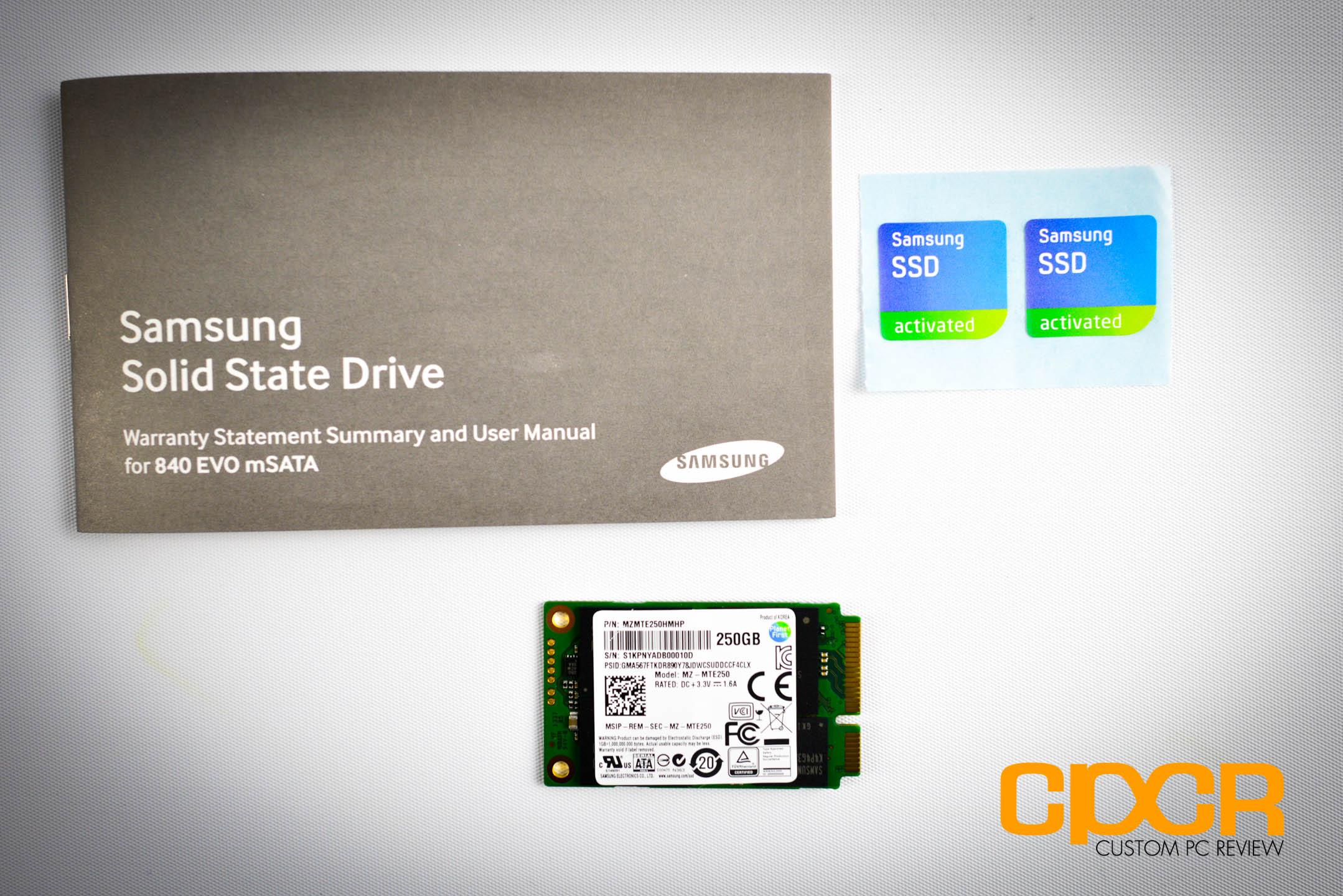 Review Samsung 840 Evo 250gb Msata Ssd Custom Pc 850 M2