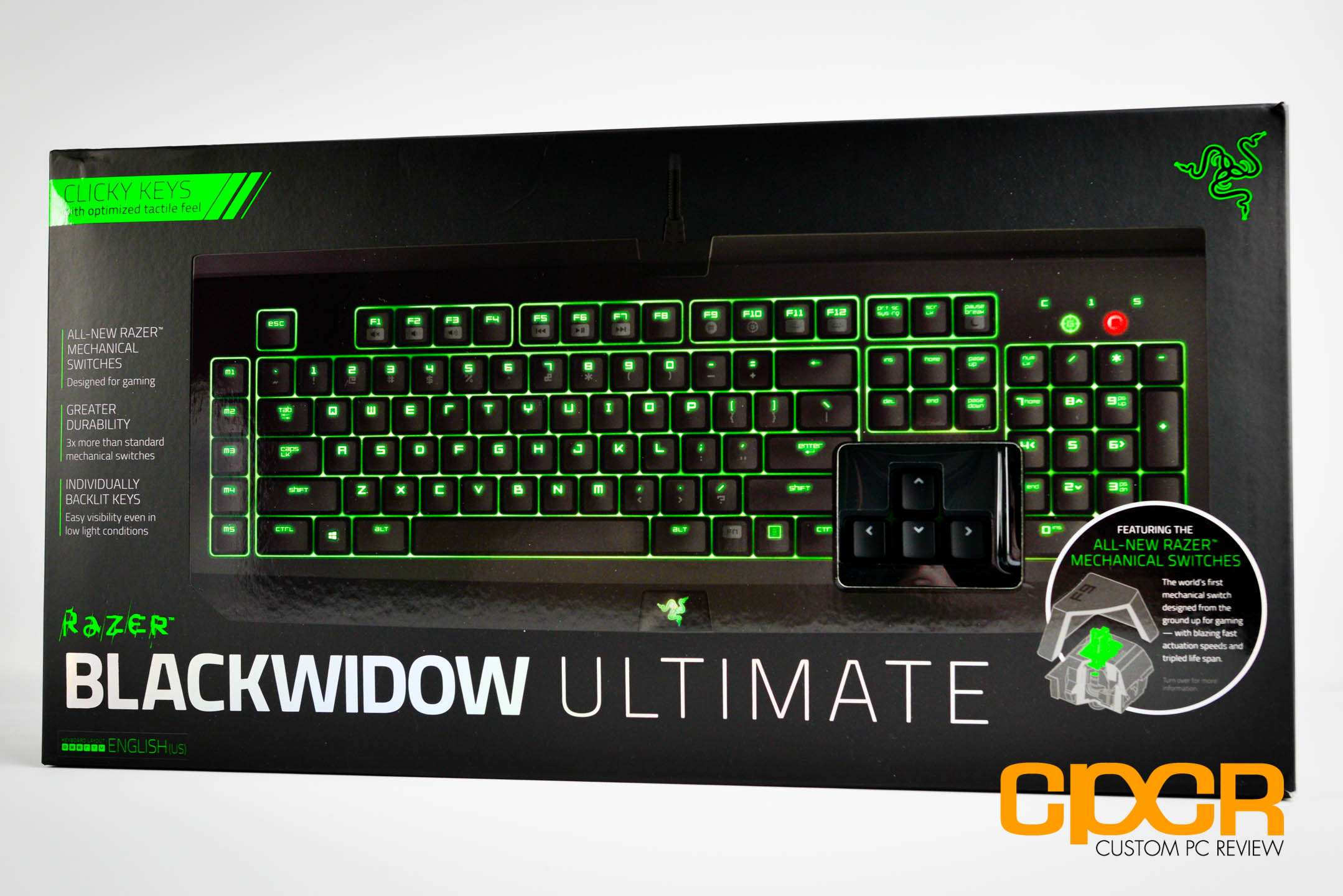 Review: Razer Blackwidow Ultimate 2014 (Razer Green Switches