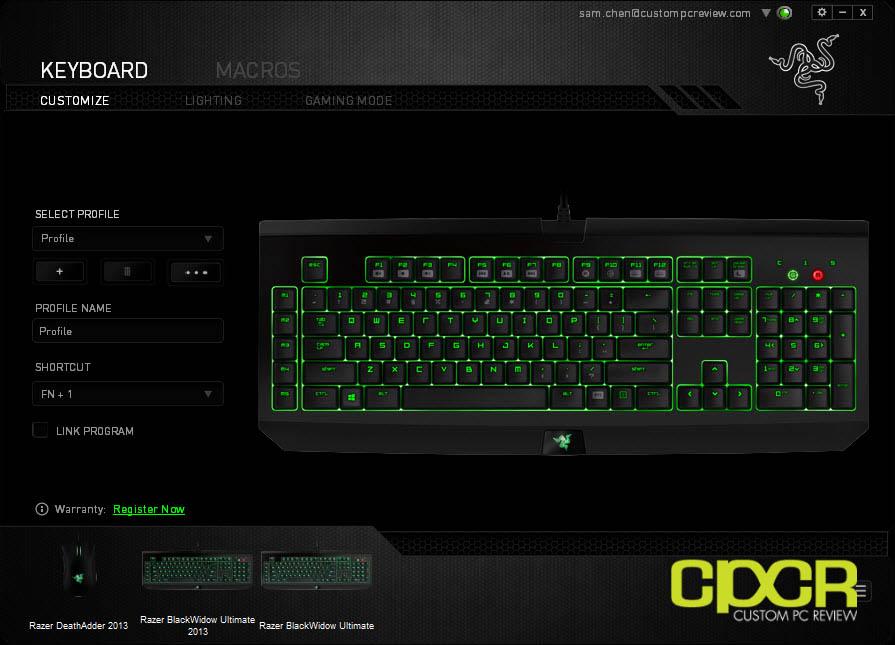 Review: Razer Blackwidow Ultimate 2014 (Razer Green Switches) | Custom PC Review
