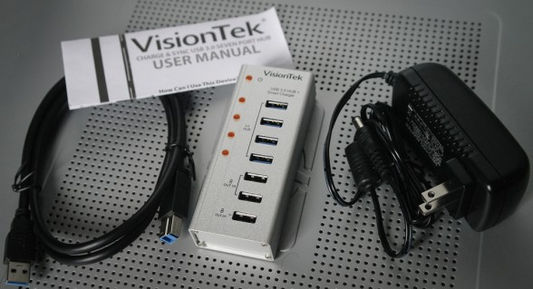visiontek charge sync usb 3.0 seven port hub-7