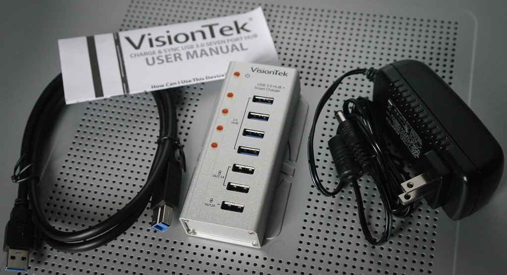 Review Visiontek Charge Sync Usb 3 0 Seven Port Hub Custom Pc