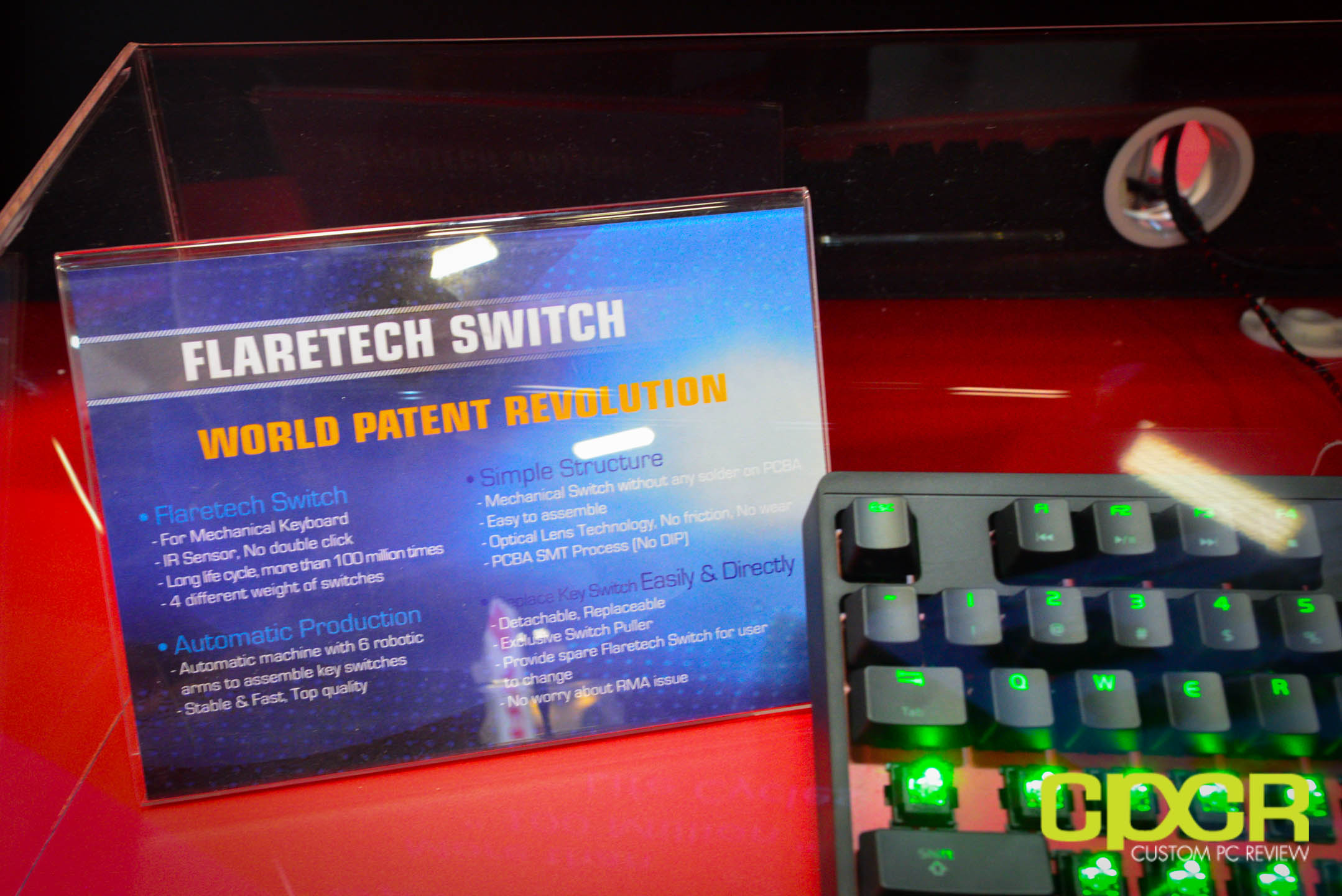 Computex 2015 Adomax Flaretech Infrared Keyswitches Could Be Simple Optical Switch Keyswitch Custom Pc Review 2