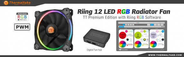 Thermaltake Riing 12 LED RGB Radiator Fan TT Premium Edition