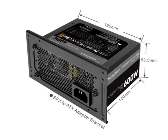 Thermaltake Toughpower SFX Gold 600W SFX to ATX PSU Adapter Bracket