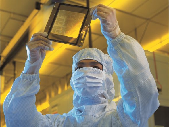 tsmc stock image fab 12 wafer inspection