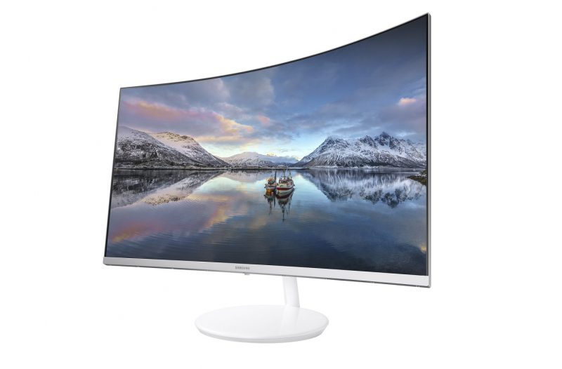 samsung ch711 quantum dot curved monitor press image 2