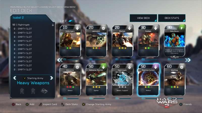 Halo Wars 2 Blitz Building a Deck Wire custompcreview