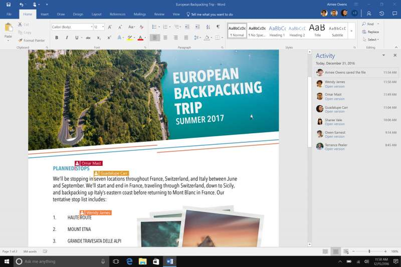 Office 365 news in January image 2 NEW TAB