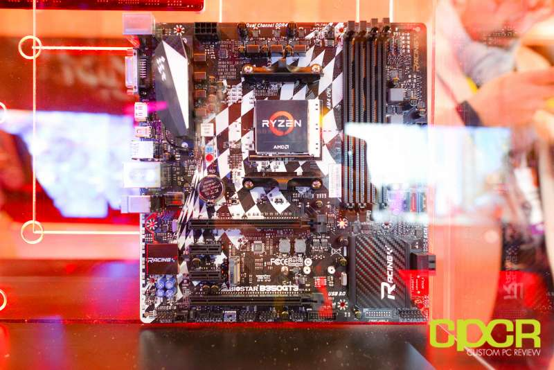 amd ryzen ces 2017 press event motherboards custom pc review 1
