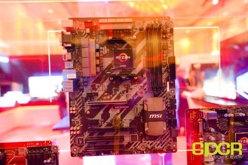 amd ryzen ces 2017 press event motherboards custom pc review 13