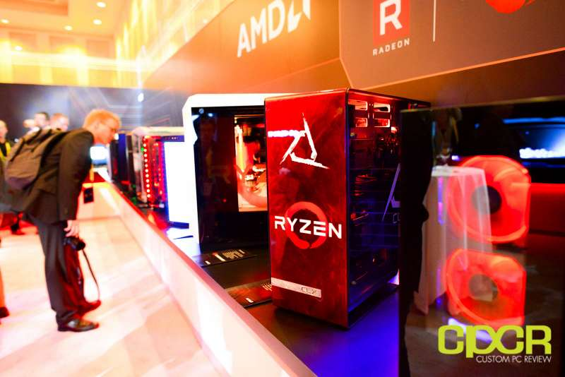 amd ryzen ces 2017 press event motherboards custom pc review 19