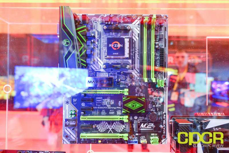 amd ryzen ces 2017 press event motherboards custom pc review 4