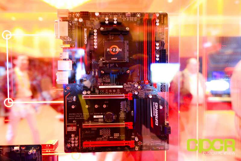 amd ryzen ces 2017 press event motherboards custom pc review 7